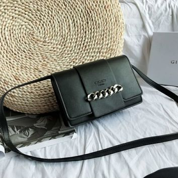 Givenchy black leather shoulder bag leather girls bag