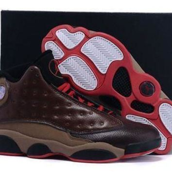 DCK7YE Cheap Air Jordan 13 XIII Retro Shoes Cigar Custom By Damien