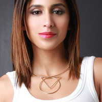 Geometry Wire Collar Necklace