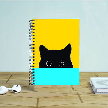 Cute Black Kitty Photo Notebook Auroid