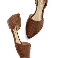 ModCloth Sweet You Off Your Feet Flat in Maple