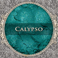 CALYPSO Mineral Eyeshadow: 5g Sifter Jar, Bright Teal Green, Vegan Cosmetics, Shimmer Eyeshadow