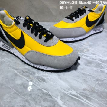 KUYOU N942 Nike Ldflow Under Cover Avant-garde lightweight running shoes Yellow Gray