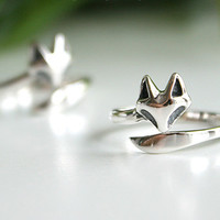 FOX Silver Ring Sterling Ring .925 Silver Ring Personalized Ring
