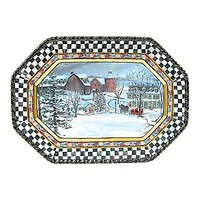 MacKenzie-Childs - MacLachlan Winter Serving Platter