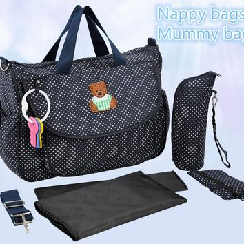 Fashion Baby Diaper Nappy Mummy Bag Maternity Organizer Changing Bottle Holder Stroller Women's Handbags for Mom B537
