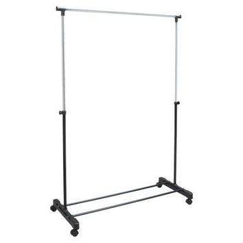 Richards Homewares Free Standing Storage Rolling Adjustable Garment Rack Clothes Hanger - Walmart.com