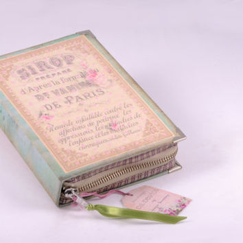 Book Clutch French Paris Perfume