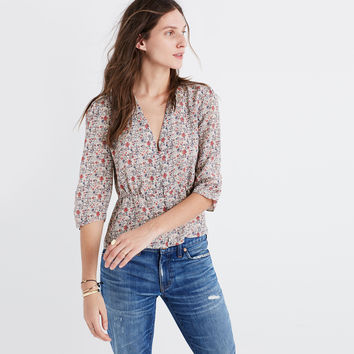 Silk Shadowpetal Top : shopmadewell tops & blouses | Madewell