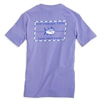 Youth Classic Skipjack Tee Shirt in Lavender by Southern Tide