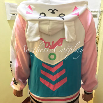 Overwatch D.Va Bunny Hoodie - Overwatch Costume DVa Meka Design Overwatch DVa Cute Sweater Cosplay Costume Hoodie DVa Hoodie DVa Sweater