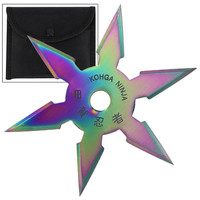 SECRET KHOGA NINJA SIX POINTS THROWING STAR TITANIUM