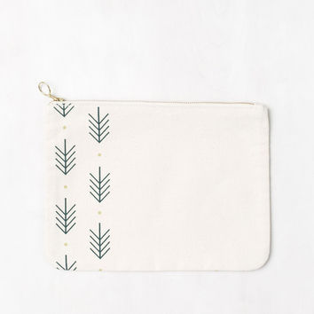 Evergreen Canvas Pouch
