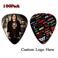 Cool  100pcs Custom Personalized Guitar Picks Can Print  Any Logo or Your Any Message  with Free Shipping Double Side Printing