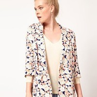 Minkpink 'When Doves Cry' Printed Soft Blazer at asos.com