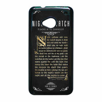 Game Of Thrones Nights Watch HTC One M7 Case
