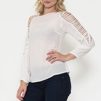 Long Sleeve Cut-Out Detail Top