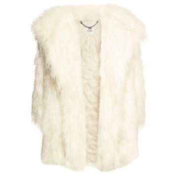 H&M - Faux Fur Jacket - White - Ladies
