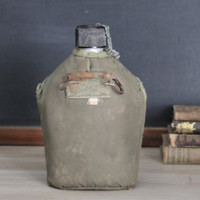 Vintage Military Army Canteen Water Jug Container
