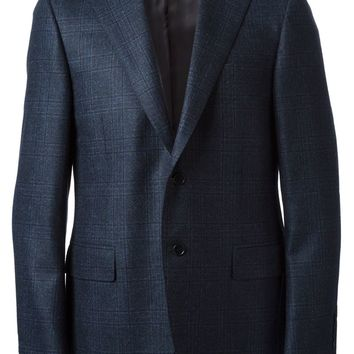 Canali elbow patched blazer