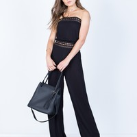 Strapless Crochet Jumpsuit