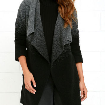 BB Dakota Kinney Grey and Black Ombre Coat