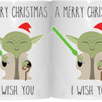 A Merry Christmas I wish you *yoda Mug* *star wars mug*
