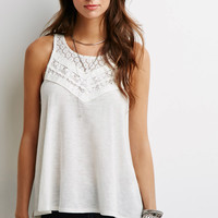 Crochet-Paneled Racerback Top