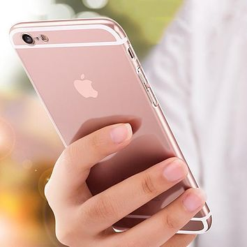Ultra-thin TPU Clear Case Cover with Dust Plug for 7 7 Plus 8 8 Plus X