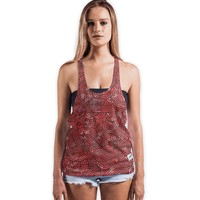 'Red and black swirls doodles' Vests by Savousepate on miPic