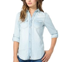 Must Have Rolled Sleeve Denim Shirt