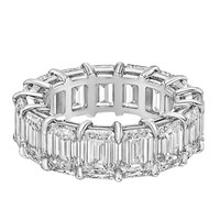 "Betteridge Emerald-Cut Diamond ""Capella"" Eternity Band"