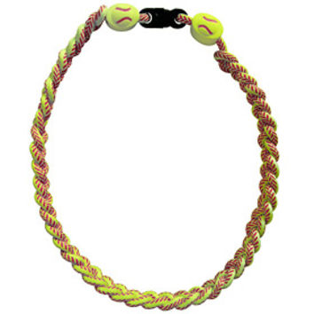 Imc Titanium Ionic Braided Necklace  Softball