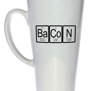 Bacon Mug - Periodic Table Chemistry Elements, Latte Size
