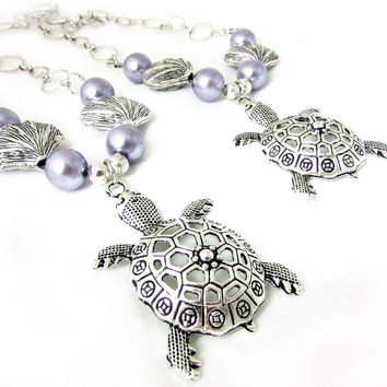 Turtle and Pearl Curtain Tiebacks