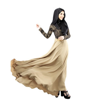 Women Islamic Clothing Long Dubai Jalabiya Dress Moroccan Kaftan Caftan Islamic Abaya Turkish Muslim Dress Arab Robe Zip SM6