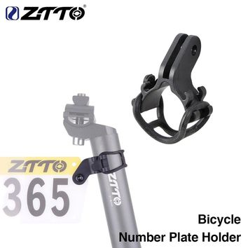ZTTO Electric Bike Cycling Number Plate Holder Fixed Gear Bracket Race Racing Card mount Ultralight  Bicycle Rear license Rack