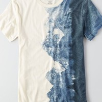 AEO Men's Mountain Graphic T-shirt (Chalk)
