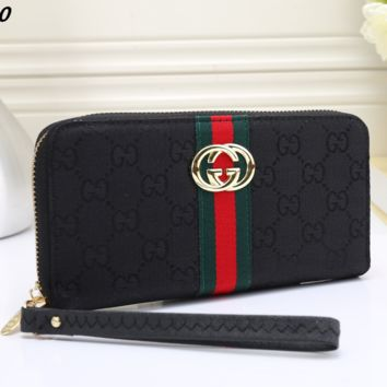 Gucci Female zipper leather wrist hand bag bag multicard G-MYJSY-BB