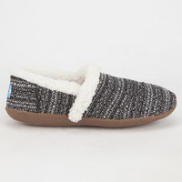 Toms Black White Boucle Womens Slippers Black/White  In Sizes