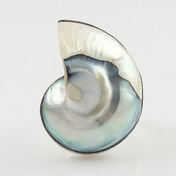 Nautilus Shell Sterling Silver Ring