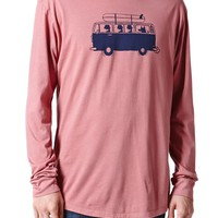 Wellen Surf Trip Long Sleeve T-Shirt - Mens Tee - Red