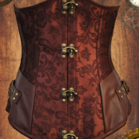 steampunk underbust corset steampunk clothes steampunk fashion under bust