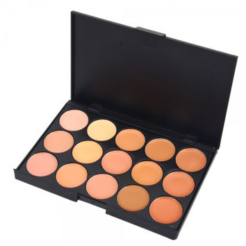15-Color Face Cream Contour Cosmetic Concealer Palette