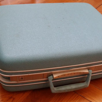 Vintage Baby Blue Samsonite Suitcase With Key Perfect for Storage Travel Display Repurposing Upcycling