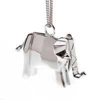 ELEPHANT NECKLACE STERLING SILVER