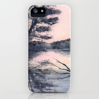 iPhone 5 Sunset Lake Case - Guelph Lake Painting - Brazen Art Cell Phone Cover  - iPhone 5 4 4s 3g Case