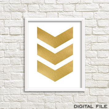 gold foil canvas gold foil poster Geometric print art Printable chevron decor geometric poster  printable gold geometric poster