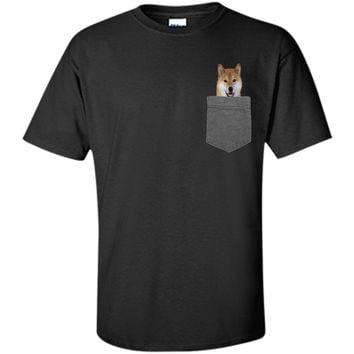 Dog in Your Pocket Tshirt Shiba Inu Shirt Doge Tee