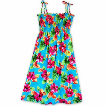 Hoopla Blue Moonkiss Hawaiian Dress